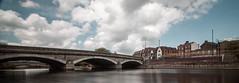 Medway (ashleyhoughtonmedia) Tags: longexposure bridge reflection water clouds river kent maidstone oldbridge rivermedway 10stopnd