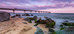 Atardecer en el Pont del Petroli (MrDaVidU) Tags: puente atardecer mar nikon mediterraneo catalunya catalua rocas badalona pontdelpetroli d7100 pontpetroli