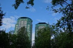 Among the trees (narcolog59) Tags: city trees houses buildings skyscrapers perm