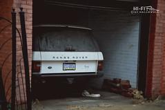 Once Grand (Hi-Fi Fotos) Tags: old uk england nikon 4x4 garage tata dirty used age worn british suv landrover rangerover luxury d5000 hallewell hififotos