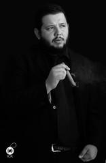 God Father (ICK.samayoa) Tags: blackwhite model godfather cigarro habano ganster