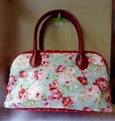 Boston bag (OrangeZoo) Tags: blue red roses handmade handbag cathkidston