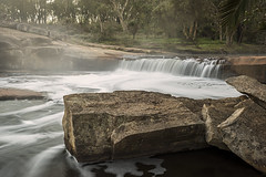 Mists of Time (SteveKPhotography) Tags: longexposure trees light mist motion nature water landscape outdoors countryside waterfall bush scenery rocks sony scenic atmosphere australia wideangle alpha tamron westernaustralia 2470mm a99 noblefalls gidgegannup slta99 stevekphotography