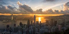 A brand new day (William C. Y. Chu) Tags: city morning urban building skyline architecture skyscraper sunrise buildings hongkong dawn cityscape thepeak kowloon hongkongisland victoriaharbour kowloonpeninsula