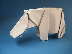 Hippo - Robert Lang (Rui.Roda) Tags: origami papiroflexia papierfalten hipopotamo hippo robert lang