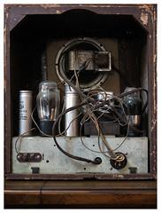 Crosley Fiver (daveelmore) Tags: crosley fiver crosleyfiver radio antique vintage tubes lumixleicadgsummilux25mm114
