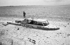 Boat on the beach, Dead Horse Bay (DoubleBen) Tags: city nyc newyork film beach brooklyn 35mm bay boat sand nikon iso sunk 50 ilford deadhorse 35ti panf