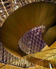 Shapes and patterns (Tiigra) Tags: 2016 architdetail architecture ceiling city color france glass interior light louvre museum night paris shape spiral stairs îledefrance fr
