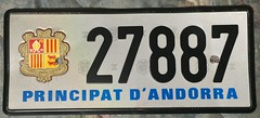 ANDORRA ---REFLECTIVE with HOLOGRAM LICENSE PLATE (woody1778a) Tags: andorra principality europe europa utility mycollection myhobby alpca1778 licenseplate numberplate registrationplate worldplates