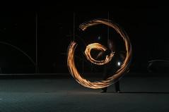 Rings of fire (Rose N. Kohl) Tags: rings ringe feuer fire nacht night langzeitbelichtung jonglage jongleur kreise circles abstrakt lightpainting lightpaint