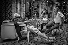 Nothing Else Matter... (YVON B) Tags: people portrait xpro2 candide blackwhite fuji france life street shadow monochrome lyon urban