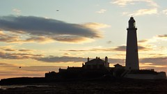 Dawn Breaks over St. Mary's Lighthouse (Gilli8888) Tags: whitleybay sunrise lighthouse stmaryslighthouse tyneandwear dawn clouds sky light batesisland coast eastcoast northsea coastline seascape silhouette