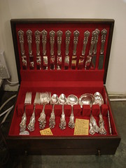 "SET STERLING SILVER REED & BARTON ""BURGUNDY"" FLATWARE. • <a style=""font-size:0.8em;"" href=""http://www.flickr.com/photos/51721355@N02/28651338453/"" target=""_blank"">View on Flickr</a>"