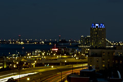 benfranklinatnight 2 (andyantipin) Tags: night nighttime city urban philadelphia buildings lighttrails