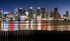 """Slumber Time"" (Manuela Durson) Tags: sandiego sandiegoskyline night nightphotography nightskyline ocean harbor citylights reflections reflection water cityscape city birds fine art coast coastal downtownsandiego downtown"