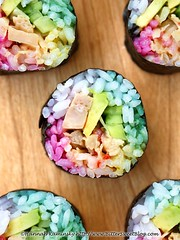 San Francisco California Rolls 3/3 (Bitter-Sweet-) Tags: vegan vegetarian fishless fishfree jackfruit sushi rice rolls maki california sanfrancisco japanese healthy colorful natural foodcoloring dyes hues plantbased avocado spicy sriracha cucumber diy