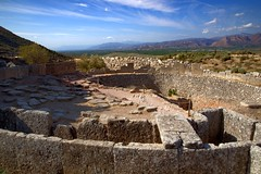 Mycenae, Greece (Herculeus.) Tags: 2016 archeologicalsite argos aug cyclopeanwalls gravecirclea greece med16 mycenae peloponnese plainofargos ngr 5photosaday rock landscape hill outdoor outside stone walls