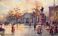 Hyde Park Corner, London (Boobook48) Tags: hydeparkcorner london england 1918 tuckspostcard ww1