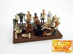 """Welcome to Iego!"" (legomaster1378) Tags: lego star wars iego the clone anakin skywalker battle droids super commando b1 b2 rusty old rebuilt"