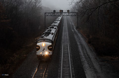 Dreary Morning Executive (benpsut) Tags: ns nsocs nspittsburghline norfolksouthern officecarspecial prr pennsy pennsysignal railroad trains greensburg pennsylvania unitedstates