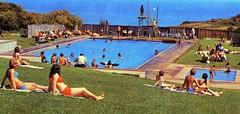 Pontins Dolphin Holiday Camp (Brixham) - Photo from 1972 brochure (trainsandstuff) Tags: dolphinholidaycamp brixham devon pontins fredpontin vintage archival swimmingpool dolphin holidaycamp retro swimming pool