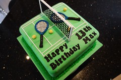 Tennis Cake (Victorious_Sponge) Tags: birthday green net cake ball court square bat tennis 13th
