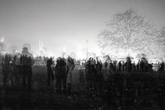 Fireworks Crowd (Nifty_Shoes) Tags: longexposure nightphotography blackandwhite silhouette crowd multipleexposure