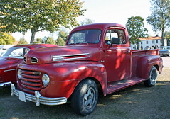 1950 Ford F1 Pickup (crusaderstgeorge) Tags: red cars ford sweden pickup f1 trucks 1950 classiccars americancars redcars hgbo americanclassiccars 1950fordf1pickup
