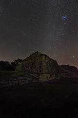 Night Mayan Ruins I (Sandra Herber) Tags: night stars mexico ruins yucatan mayan astrophotography puuc oxkintok