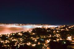 A line of Fog (Kathy~) Tags: fog sanfrancisco night lights city herowinner instagram