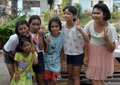 preteen girls dressed up for children's day (the foreign photographer - ) Tags: girls up portraits thailand nikon day bangkok made childrens dressed preteen khlong bangkhen thanon d3200