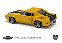 Chevrolet 1967 Camaro 'Bumblebee' (lego911) Tags: auto birthday classic chevrolet car robot model lego transformer render ss stripe camaro bumblebee chevy transformers 1960s 1968 sema 7th rs coupe challenge v8 cad lugnuts 68 povray 84 chev moc ldd miniland abakersdozen lego911 lugnutsturns7or49indogyears