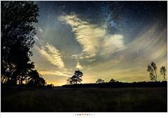 Wolken en sterren (NH018973) (nandOOnline) Tags: nacht nederland natuur wolken avond hemel melkweg landschap nachtfotografie ster sterren sterrenbeeld nbrabant milheeze stippelberg