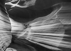 Upper Antilope Canyon 10 B&W (USpecks_Photography) Tags: blackandwhite bw blackwhite desert navajo navajoland navajoreservation slotcanyon canonefs1022mmf3545usm navajonation upperantelopecanyon navajotriballand canon7d