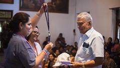 MbYAS Orgaizer offering Id Batch,T-shirt and Cap to AMBPPCT Chairman, Shridhar Kelkar