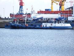 HERTA (Digi-Joerg) Tags: germany flagge 1959 cuxhaven eigner baujahr heimathafen 20meter bunkerboot 12102014 imokennung angabenfehlen 05106550 längevon30