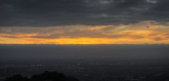 The sky is on fire - at Mount Hamilton Grandview Restaurant (PeterThoeny) Tags: california sunset orange night fire restaurant raw cloudy sanjose hdr mthamilton 3xp photomatix fav100 nex6 selp1650 mthamiltongrandview
