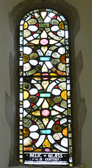 Photo of Ancient Stained glass window, St Mary's church, Brabourne