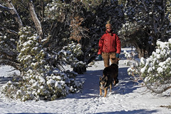 Janet and the Dogs, 16 November 2014 (Bob Palin) Tags: november winter 15fav usa dog snow cold animal 510fav canon utah biff threepeaks janet ironcounty club100 100vistas instantfave canoneos60d frikka orig:file=2014111622513cropadjust1024