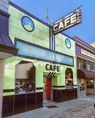 Now That's a Cafe (Pete Zarria) Tags: building sign cafe neon decay alabama eat vitriolite