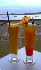 Mango Lassi and a cocktail (Derryn_NZ) Tags: drinks cocktails lassi mangolassi mangodrink