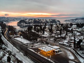 View from Bekkelagsveien, Oslo