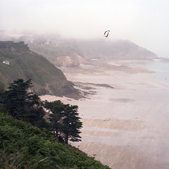 Pointe du Roselier, Bretagne (Nicolas Schneider) Tags: france beach fog bretagne hasselblad plage brouillard 500cm