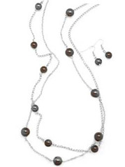 5th Avenue Brown Necklace P2330A-2