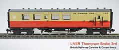 Lego LNER Thompson Brake 3rd Coach (michaelgale) Tags: coach lego brake passenger thompson moc britishrailways lner