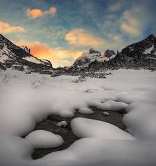 *** (Krasi St Matarov) Tags: winter mountain snow mountains nature water yellow clouds sunrise landscape nikon ngc peak bulgaria rila malyovitsa pwlandscape