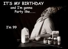 SMILE 54 (cptesco) Tags: birthday old party hat cane milk health 99 randy medicine colon enema randle mcbay