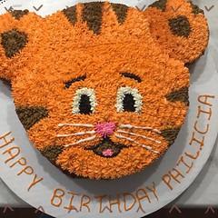 Tiger cake by Lauren, Pittsburgh, PA, www.birthdaycakes4free.com
