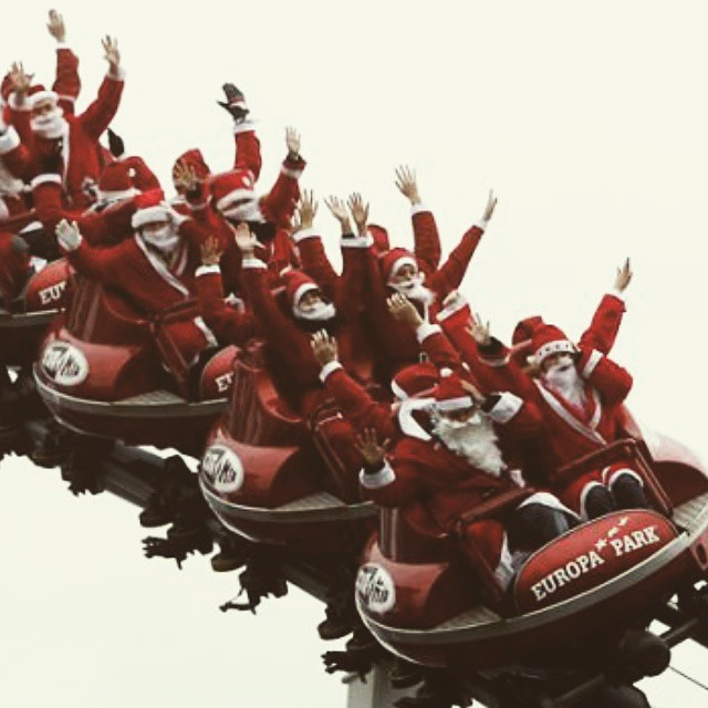 MERRY XMAS to all!  #sxsw and Santa is taking a year off delivering toys to ride Euro Mir at #EuropaPark  http://absolutecoaster.com