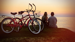 (alliance1) Tags: ocean sunset color beach bicycle hawaii couple maui toned whynot kihei 20142015 fujix100s